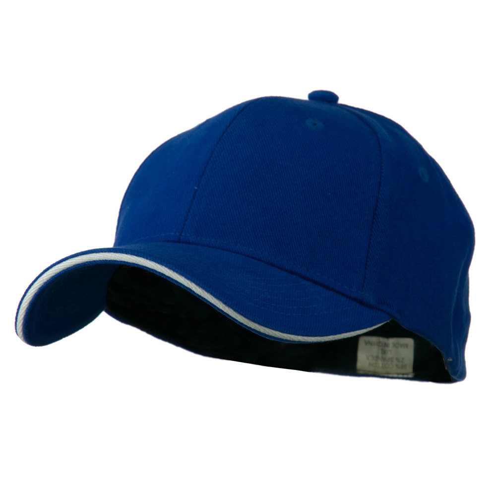 Heavy Weight Fitted Cap - Royal White - Hats and Caps Online Shop - Hip Head Gear