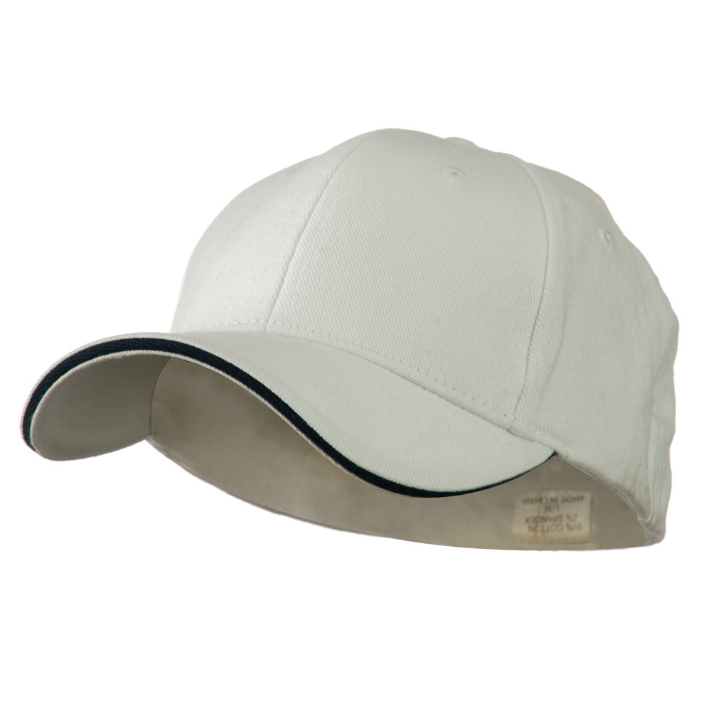 Heavy Weight Fitted Cap - White Navy - Hats and Caps Online Shop - Hip Head Gear