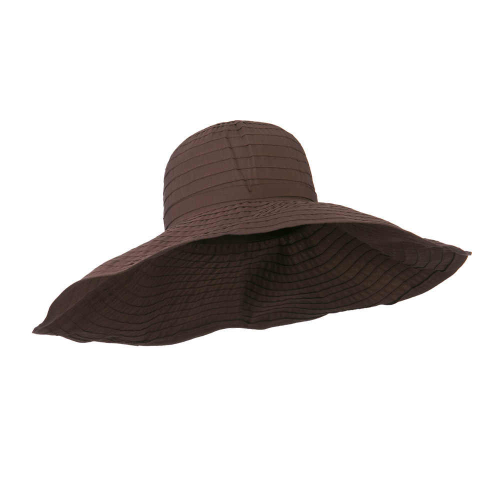 8 Inch Brim Self Tie Band Hat - Chocolate - Hats and Caps Online Shop - Hip Head Gear