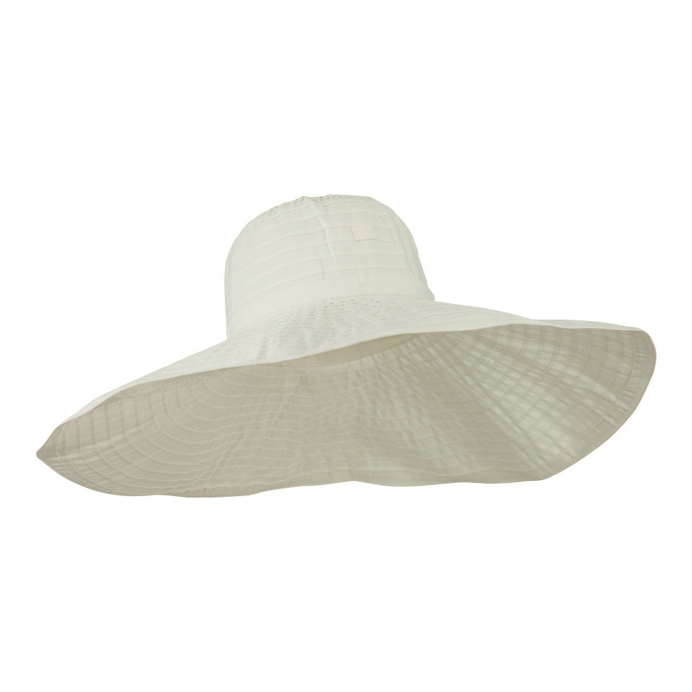 8 Inch Brim Self Tie Band Hat - White - Hats and Caps Online Shop - Hip Head Gear