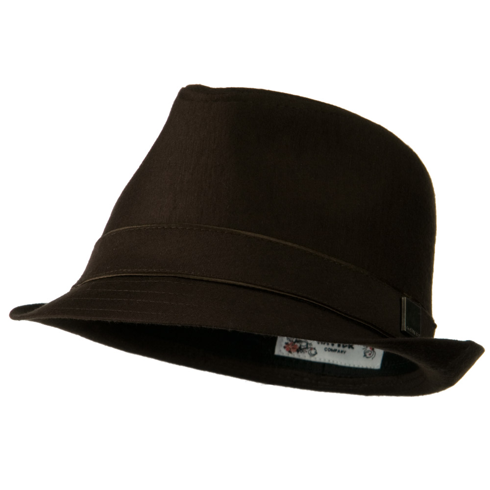 Jersey Fabric Fedora Hat - Brown - Hats and Caps Online Shop - Hip Head Gear