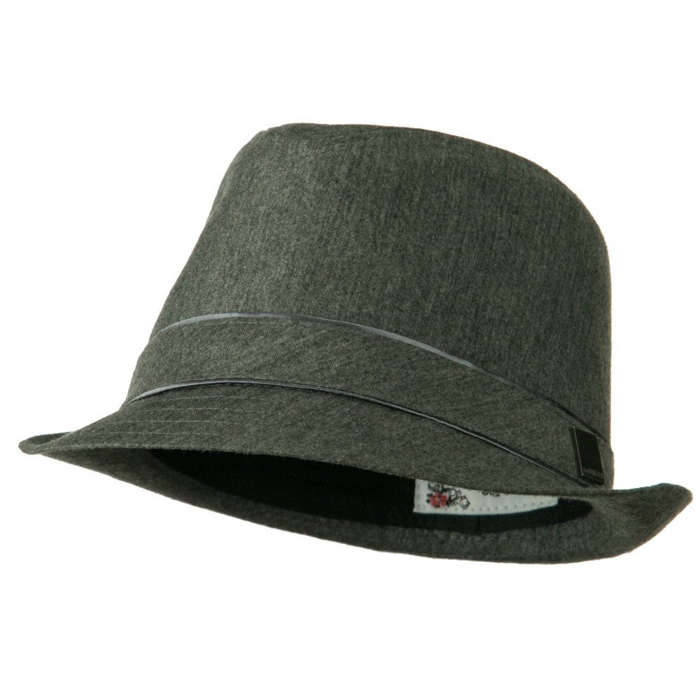 Jersey Fabric Fedora Hat - Charcoal - Hats and Caps Online Shop - Hip Head Gear