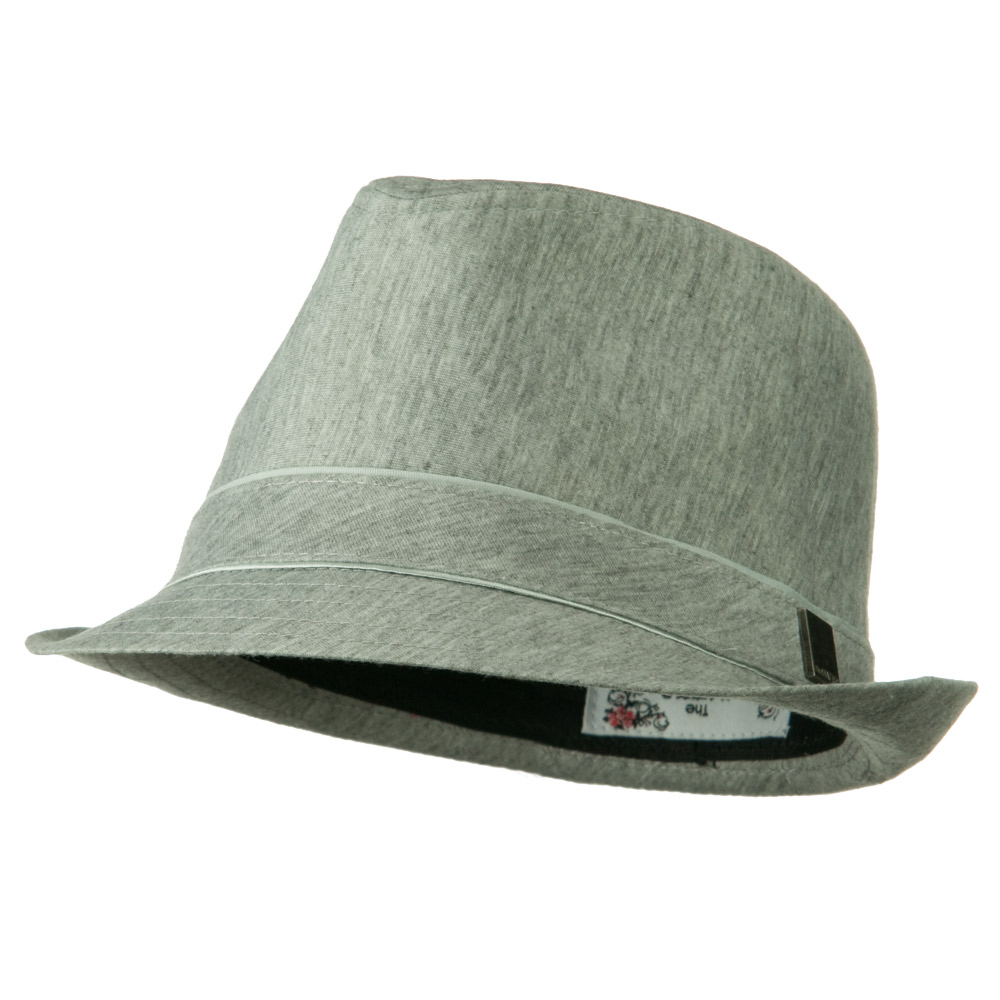 Jersey Fabric Fedora Hat - Grey - Hats and Caps Online Shop - Hip Head Gear