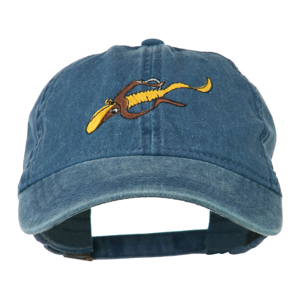Fishing Floating Jig Embroidered Washed Cap - Navy - Hats and Caps Online Shop - Hip Head Gear