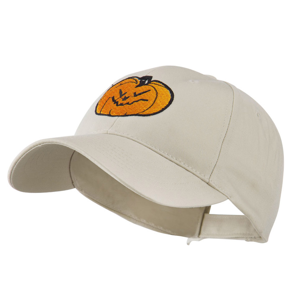 Halloween Evil Jack O Lantern Embroidered Cap - Stone - Hats and Caps Online Shop - Hip Head Gear