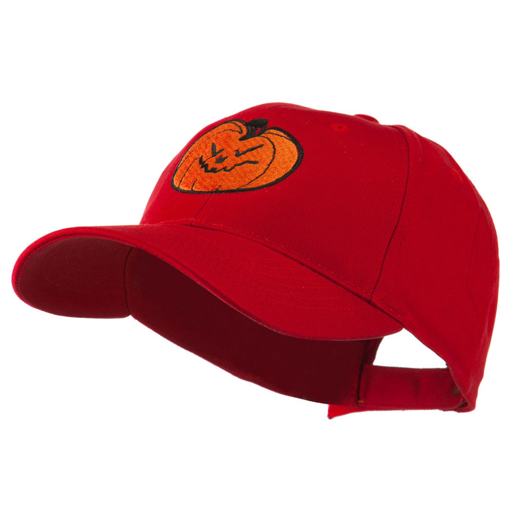 Halloween Evil Jack O Lantern Embroidered Cap - Red - Hats and Caps Online Shop - Hip Head Gear