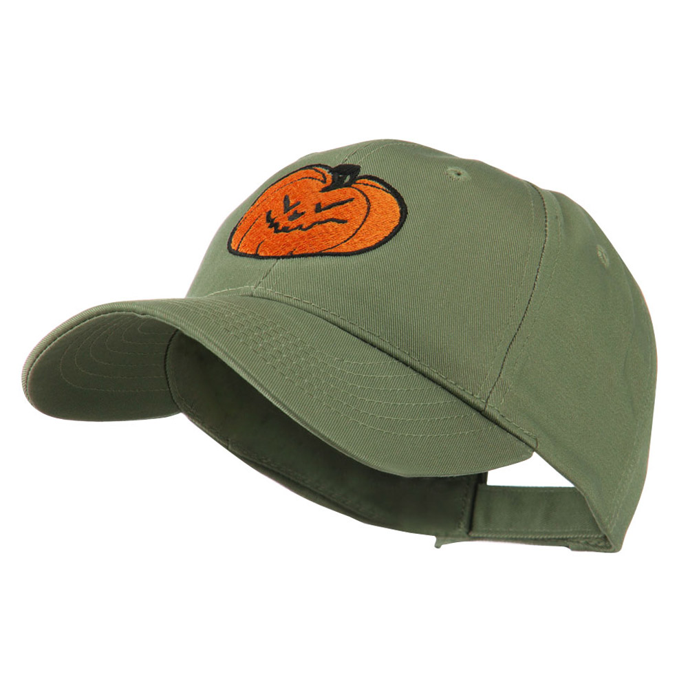 Halloween Evil Jack O Lantern Embroidered Cap - Olive - Hats and Caps Online Shop - Hip Head Gear