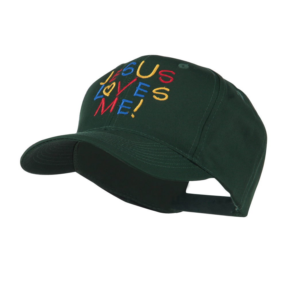Jesus Loves Me Embroidered Cap - Green - Hats and Caps Online Shop - Hip Head Gear