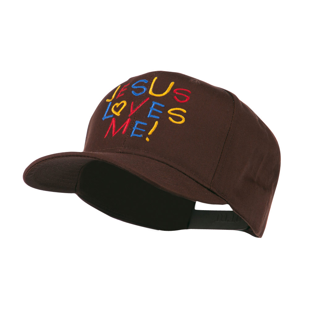Jesus Loves Me Embroidered Cap - Brown - Hats and Caps Online Shop - Hip Head Gear
