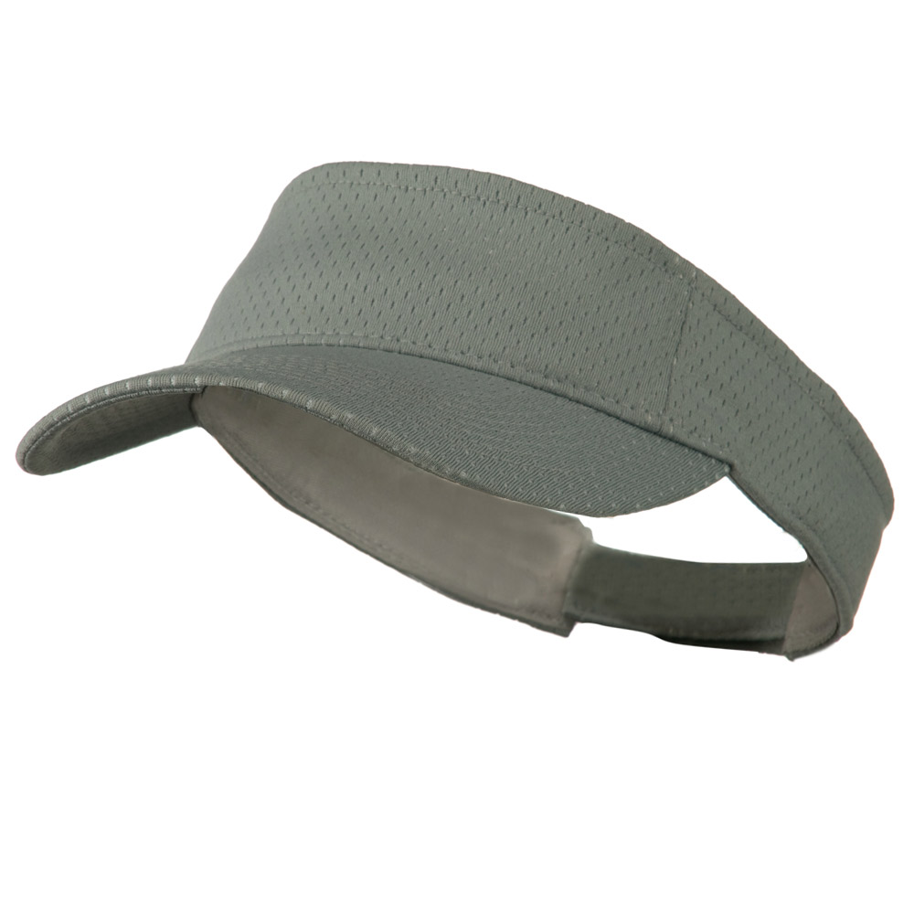 Athletic Jersey Mesh Sportsvisor - Grey - Hats and Caps Online Shop - Hip Head Gear