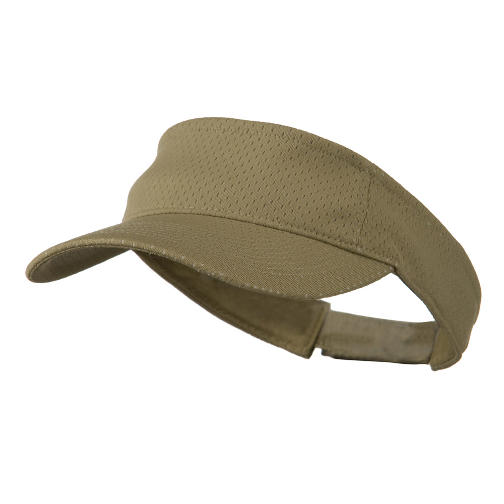 Athletic Jersey Mesh Sportsvisor - Khaki - Hats and Caps Online Shop - Hip Head Gear