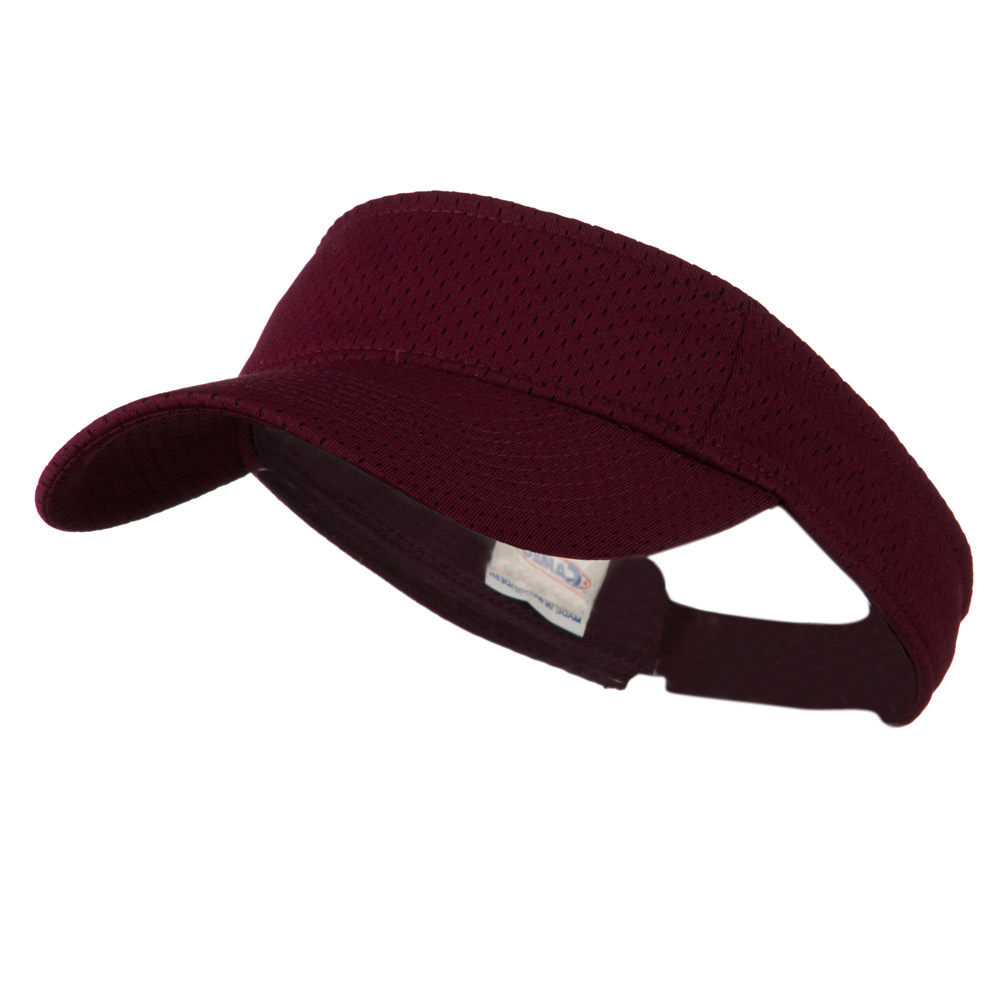 Athletic Jersey Mesh Sportsvisor - Maroon - Hats and Caps Online Shop - Hip Head Gear