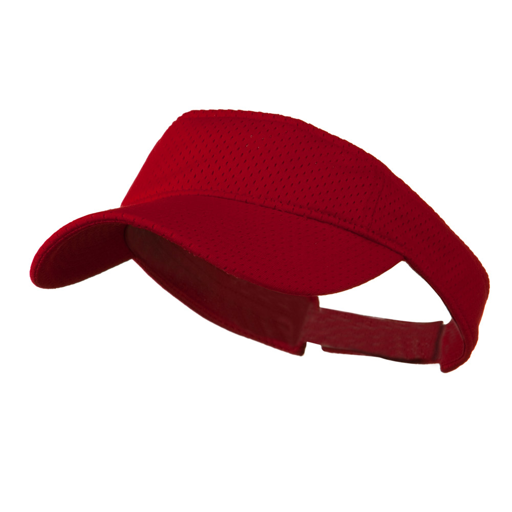 Athletic Jersey Mesh Sportsvisor - Red - Hats and Caps Online Shop - Hip Head Gear