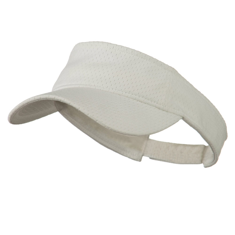 Athletic Jersey Mesh Sportsvisor - White - Hats and Caps Online Shop - Hip Head Gear