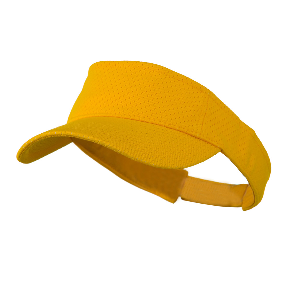 Athletic Jersey Mesh Sportsvisor - Gold - Hats and Caps Online Shop - Hip Head Gear