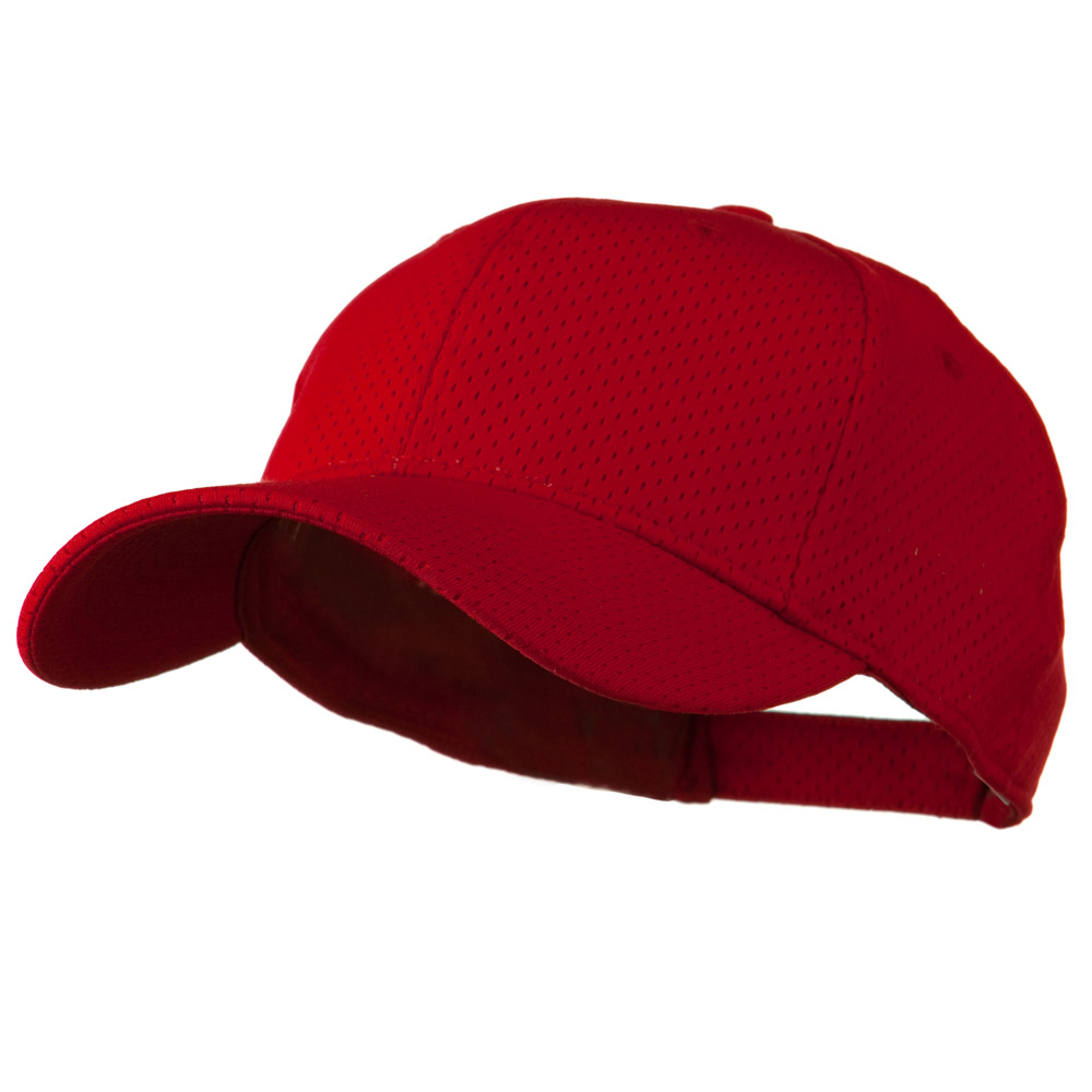 Athletic Jersey Mesh Cap - Red - Hats and Caps Online Shop - Hip Head Gear