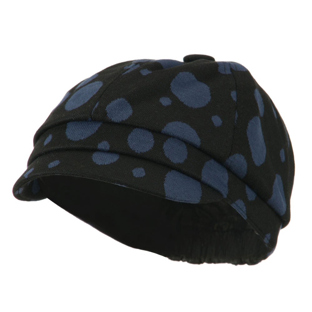 Girl's Polka Dots Elastic Cabby Cap - Blue - Hats and Caps Online Shop - Hip Head Gear