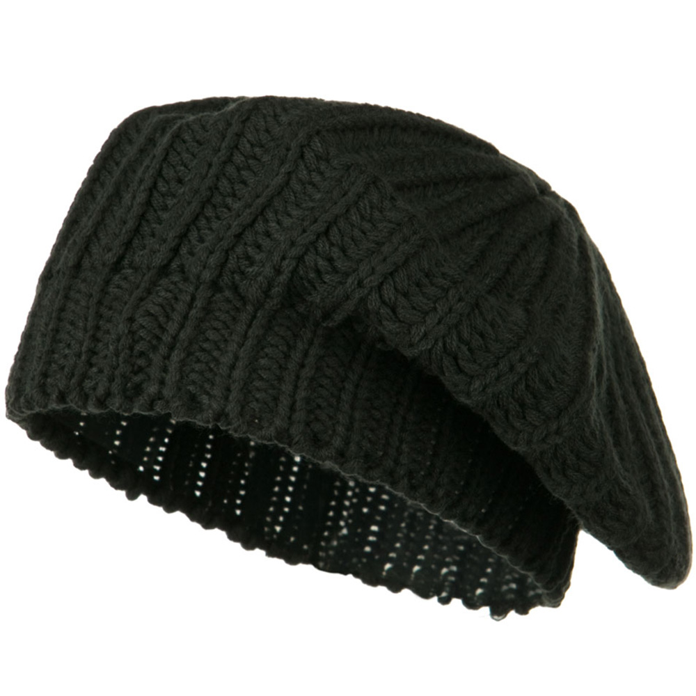 Acrylic Knitted Beret - Moss - Hats and Caps Online Shop - Hip Head Gear