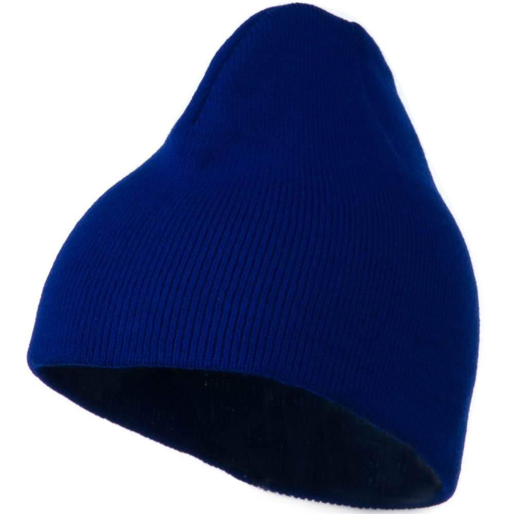 8 Inch Knitted Short Beanie - Royal - Hats and Caps Online Shop - Hip Head Gear