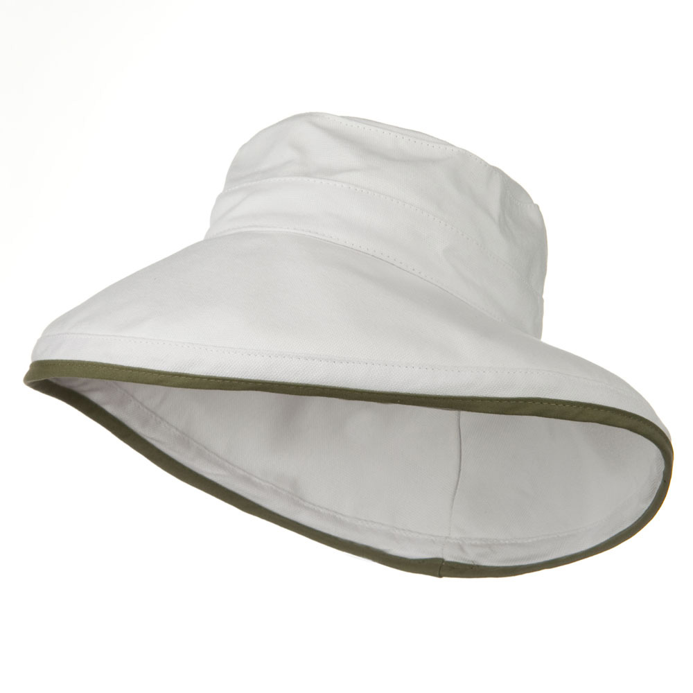 Kettle Canvas 4 Inch Brim Hat - White - Hats and Caps Online Shop - Hip Head Gear