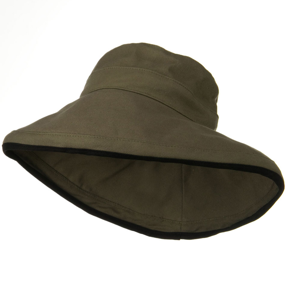 Kettle Canvas 4 Inch Brim Hat - Olive - Hats and Caps Online Shop - Hip Head Gear