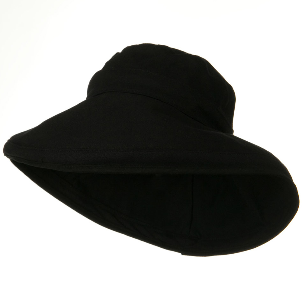 Kettle Canvas 4 Inch Brim Hat - Black - Hats and Caps Online Shop - Hip Head Gear