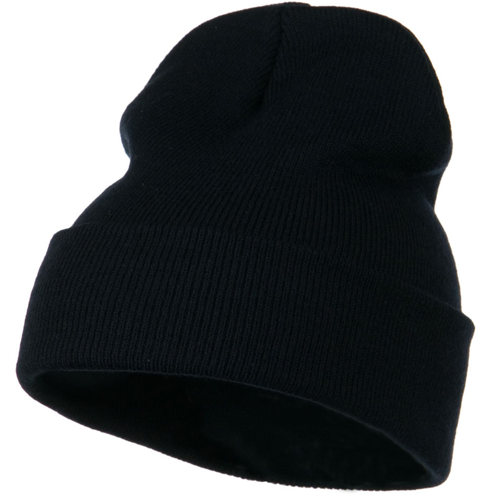 12 Inch Long Knitted Beanie - Navy - Hats and Caps Online Shop - Hip Head Gear