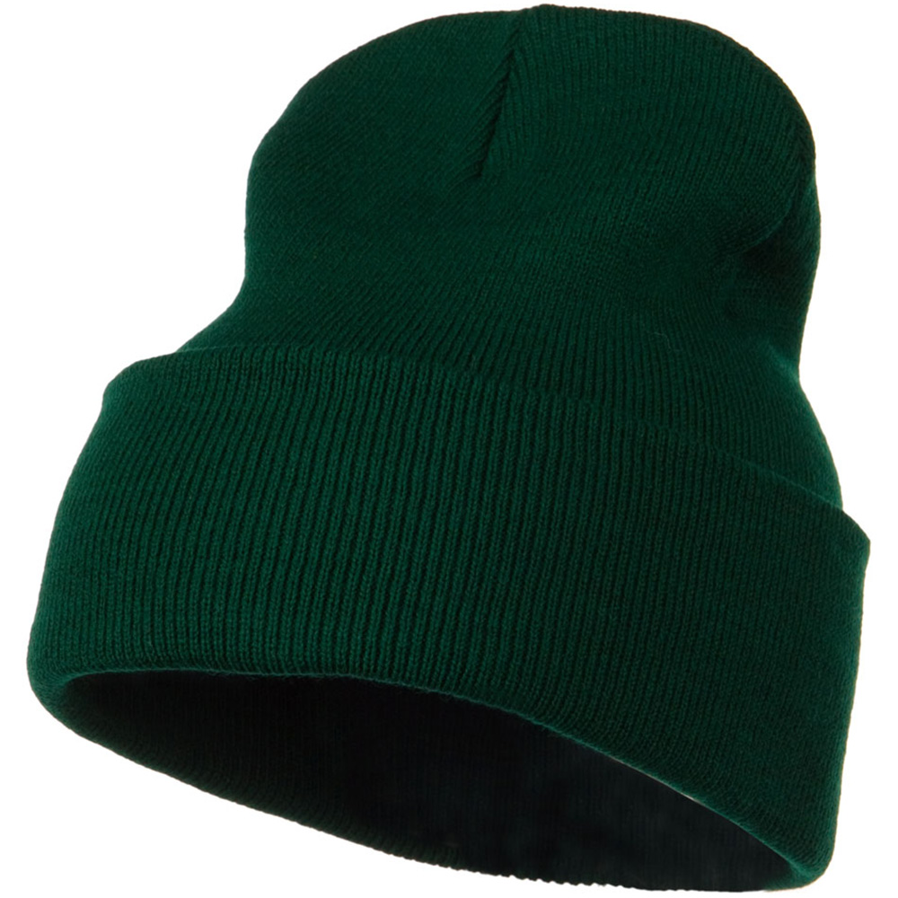 12 Inch Long Knitted Beanie - Dark Green - Hats and Caps Online Shop - Hip Head Gear