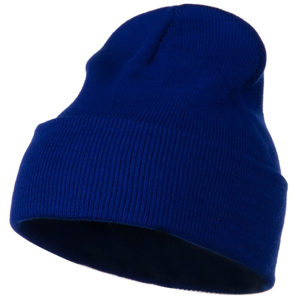 12 Inch Long Knitted Beanie - Royal - Hats and Caps Online Shop - Hip Head Gear