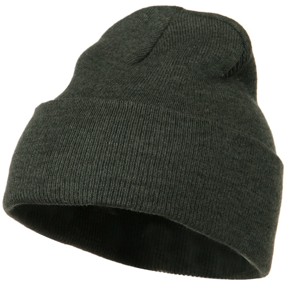 12 Inch Long Knitted Beanie - Dark Grey - Hats and Caps Online Shop - Hip Head Gear