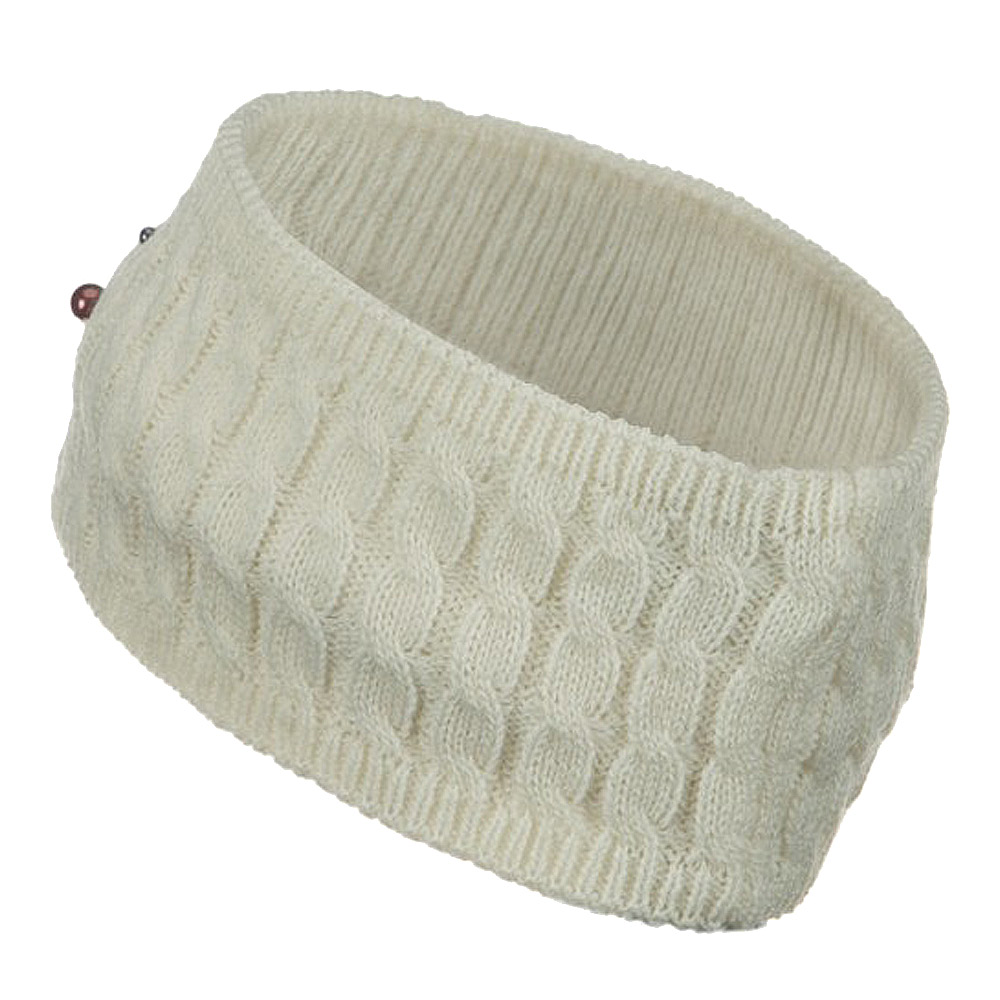 Knit Head Band with Pearl - Off White - Hats and Caps Online Shop - Hip Head Gear