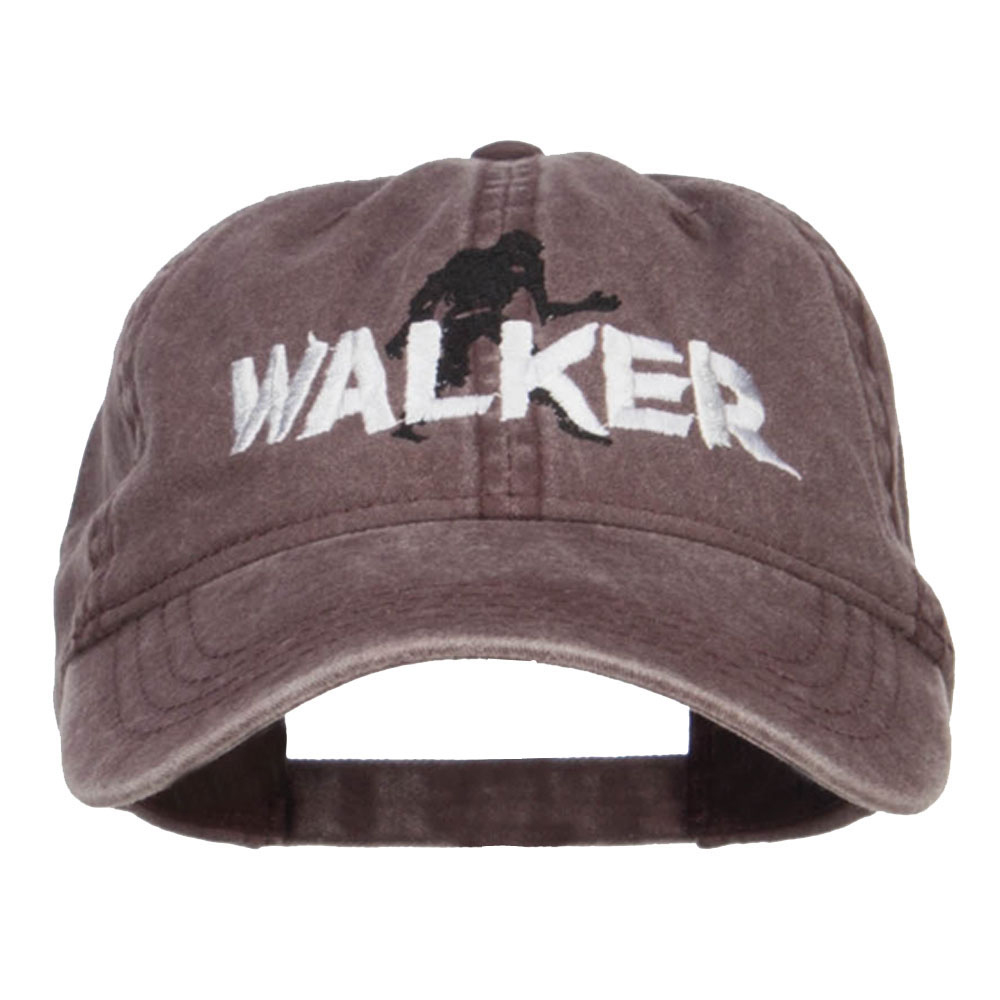 Halloween Walker Embroidered Washed Cap - Brown