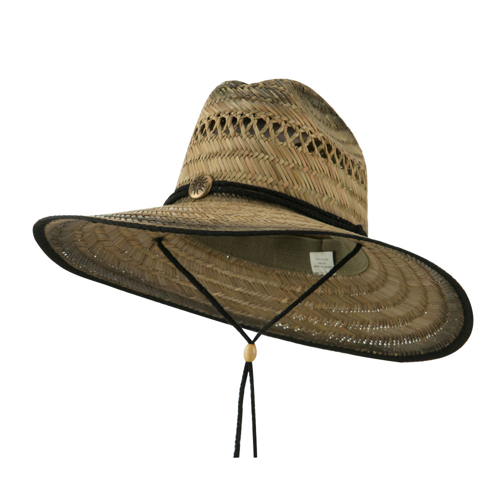 Life Guard Straw Hat - Black - Hats and Caps Online Shop - Hip Head Gear
