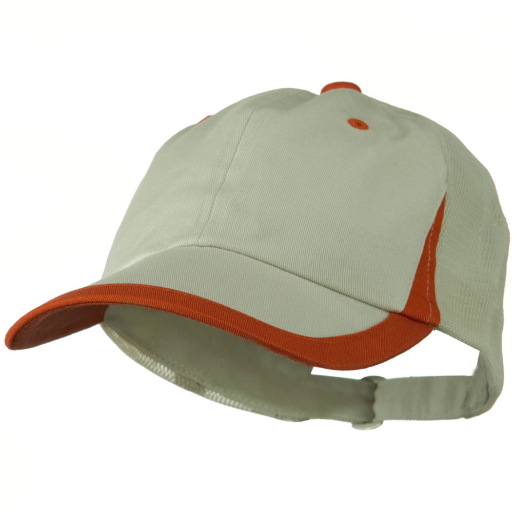 Low Profile Camo Twill Mesh Cap - Putty Orange - Hats and Caps Online Shop - Hip Head Gear