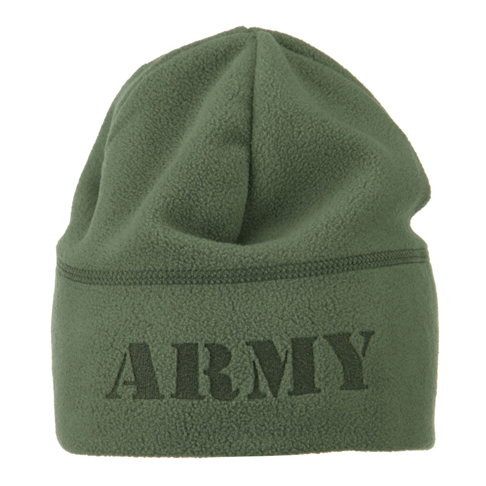 Laser Fleece US Military Short Beanie - Army Green - Hats and Caps Online Shop - Hip Head Gear
