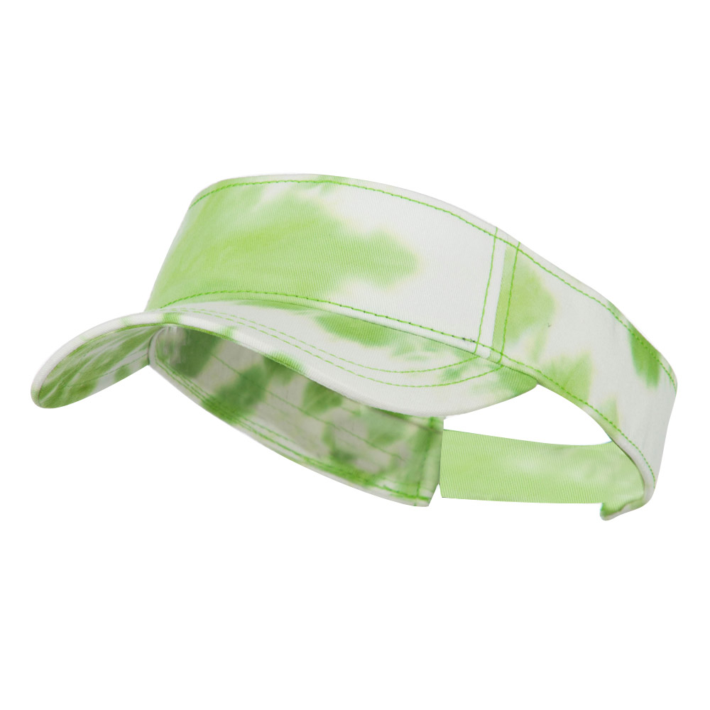 Ladies Fit Tie Dyed Visor - Lime White - Hats and Caps Online Shop - Hip Head Gear