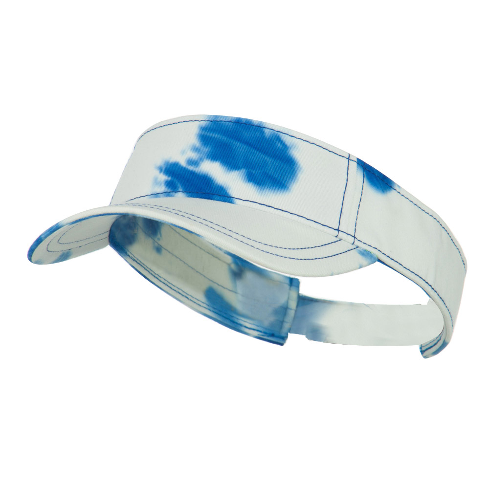 Ladies Fit Tie Dyed Visor - Royal White - Hats and Caps Online Shop - Hip Head Gear