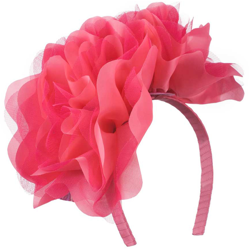 2 Large Soft Flowers with Netting Headband - Watermelon - Hats and Caps Online Shop - Hip Head Gear