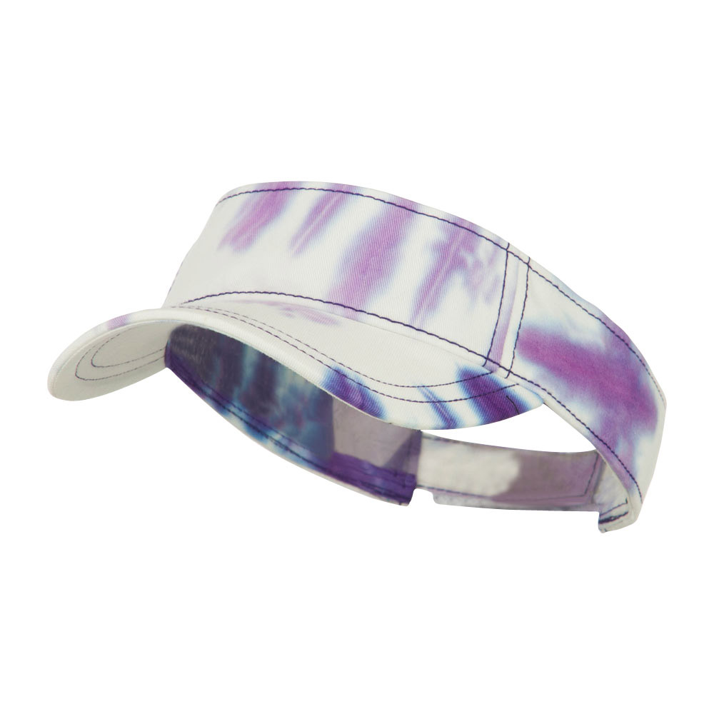 Ladies Fit Tie Dyed Visor - Purple White - Hats and Caps Online Shop - Hip Head Gear