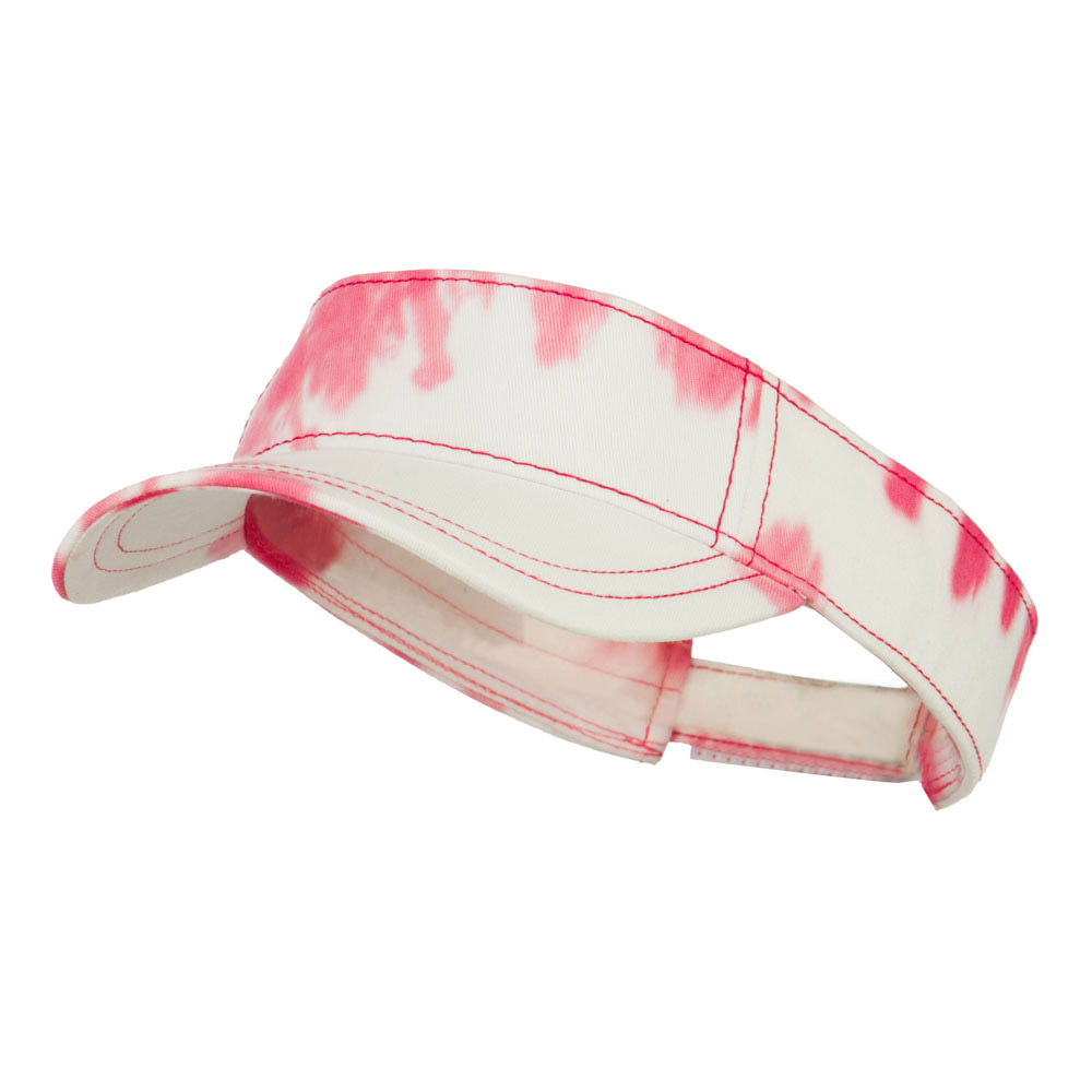 Ladies Fit Tie Dyed Visor - Pink White - Hats and Caps Online Shop - Hip Head Gear