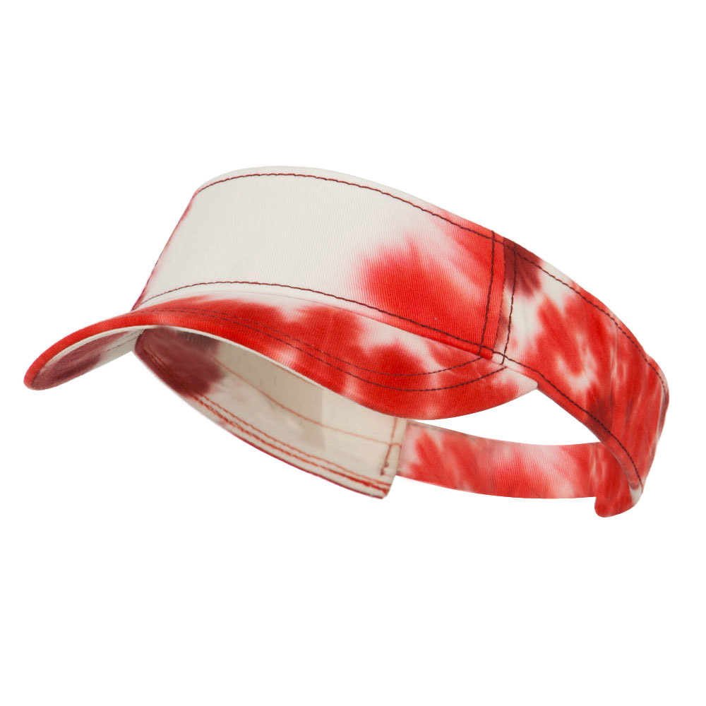 Ladies Fit Tie Dyed Visor - Red White - Hats and Caps Online Shop - Hip Head Gear