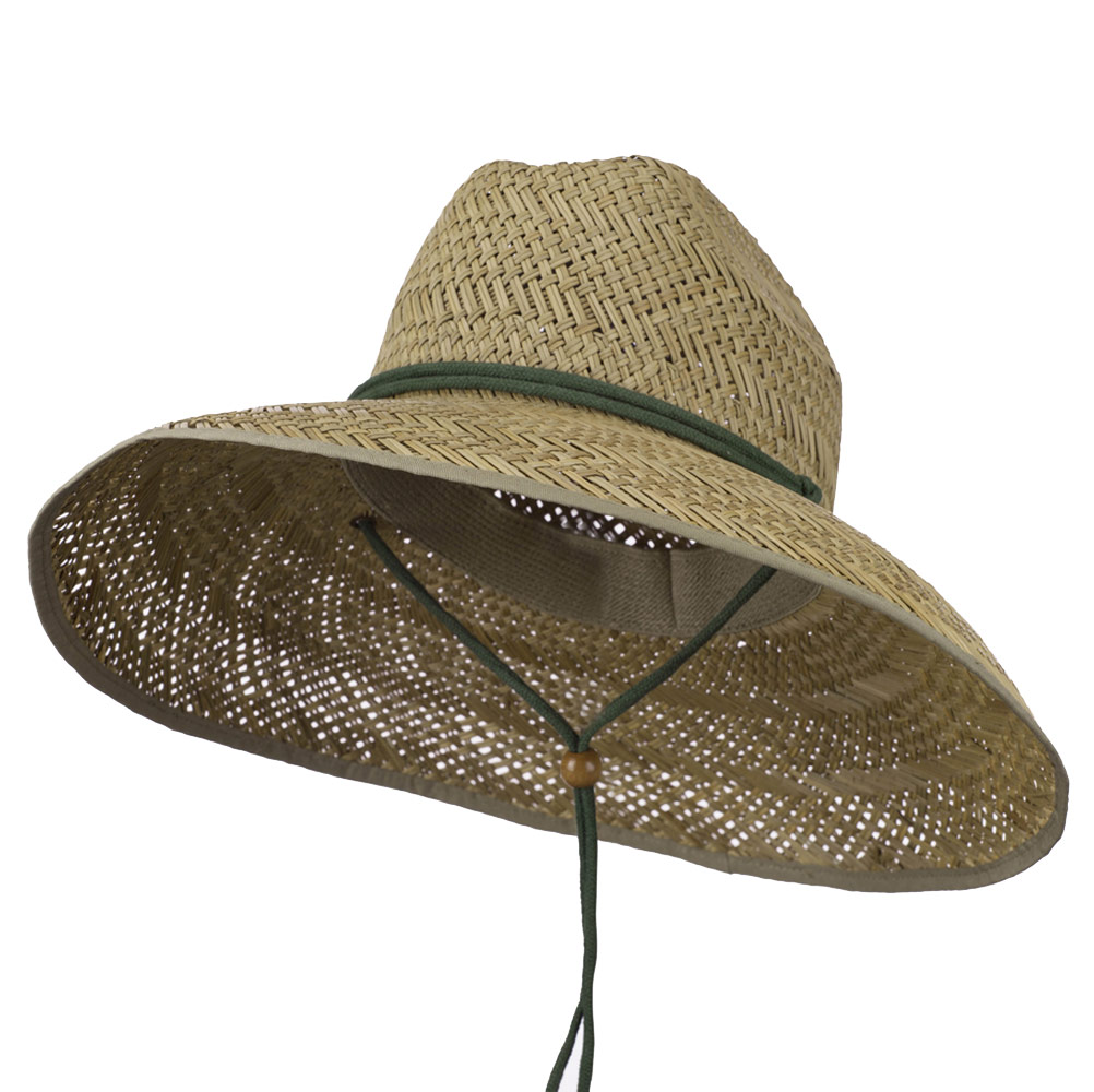 Man's Lifeguard Safari Straw Hat - Natural - Hats and Caps Online Shop - Hip Head Gear