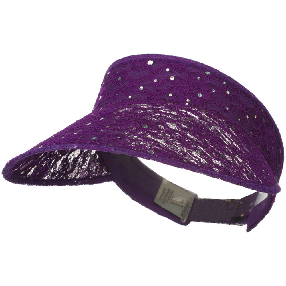 Lace Glitter Sun Visor - Purple - Hats and Caps Online Shop - Hip Head Gear