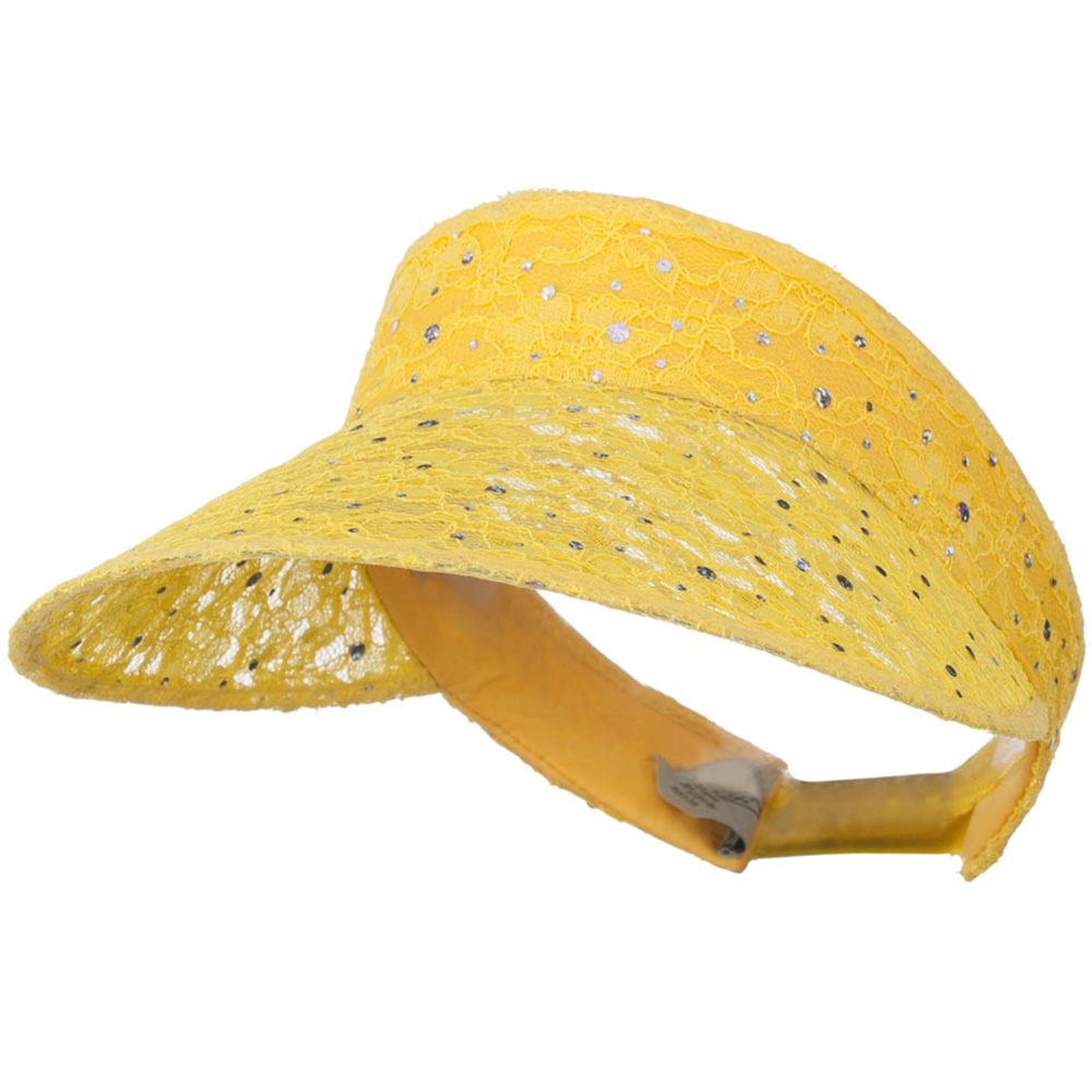 Lace Glitter Sun Visor - Yellow - Hats and Caps Online Shop - Hip Head Gear