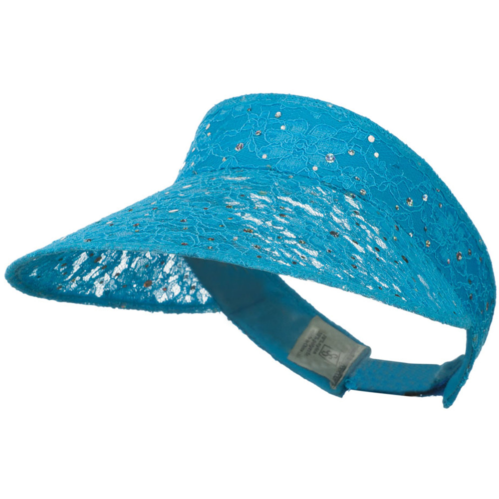Lace Glitter Sun Visor - Turquoise - Hats and Caps Online Shop - Hip Head Gear