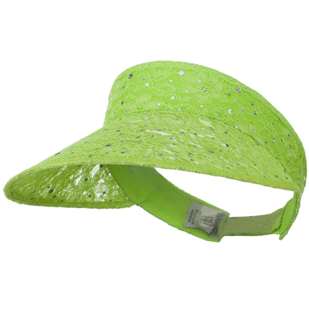 Lace Glitter Sun Visor - Lime - Hats and Caps Online Shop - Hip Head Gear