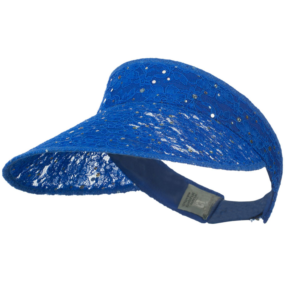 Lace Glitter Sun Visor - Blue - Hats and Caps Online Shop - Hip Head Gear