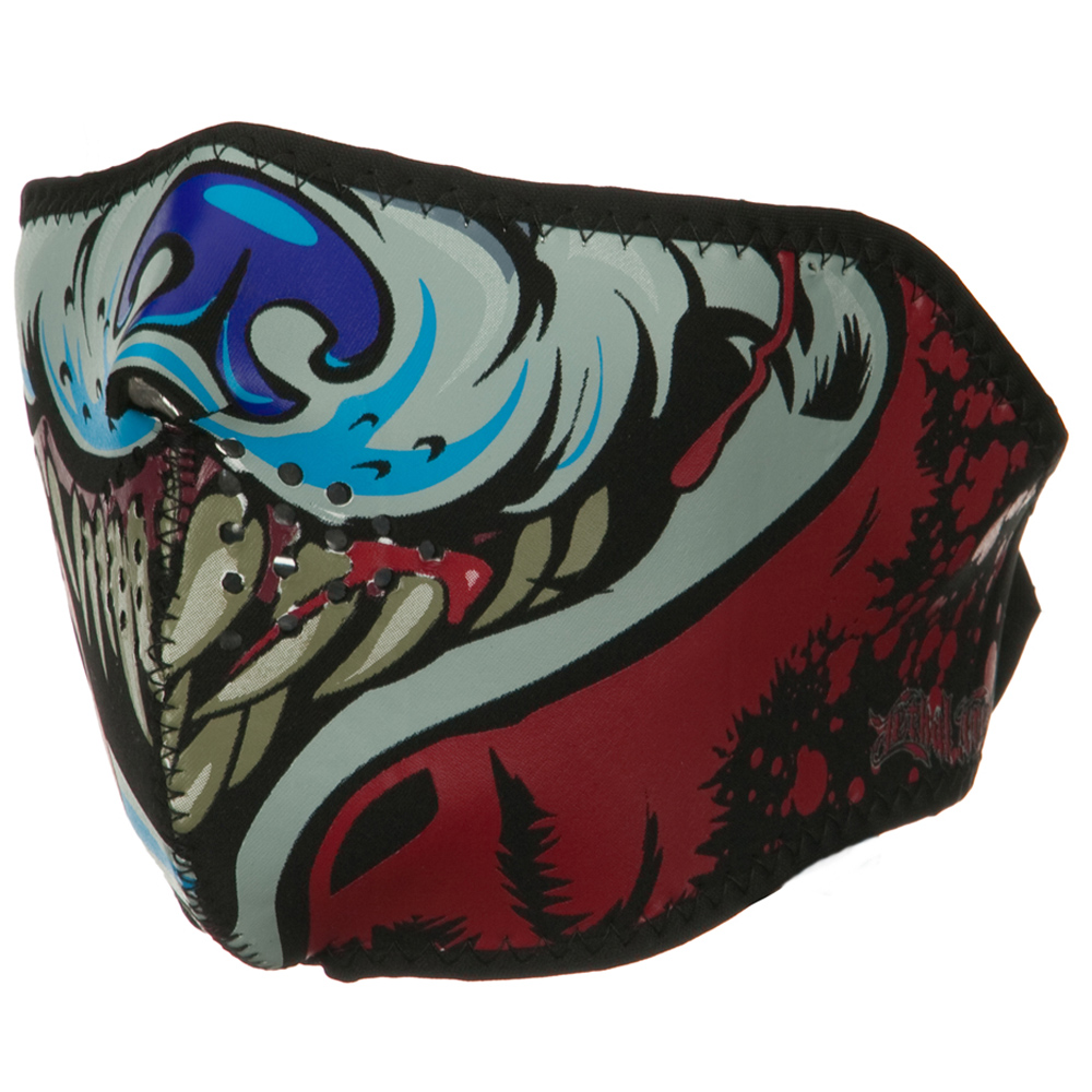 Lethal Threat Half Face Mask - Wolf