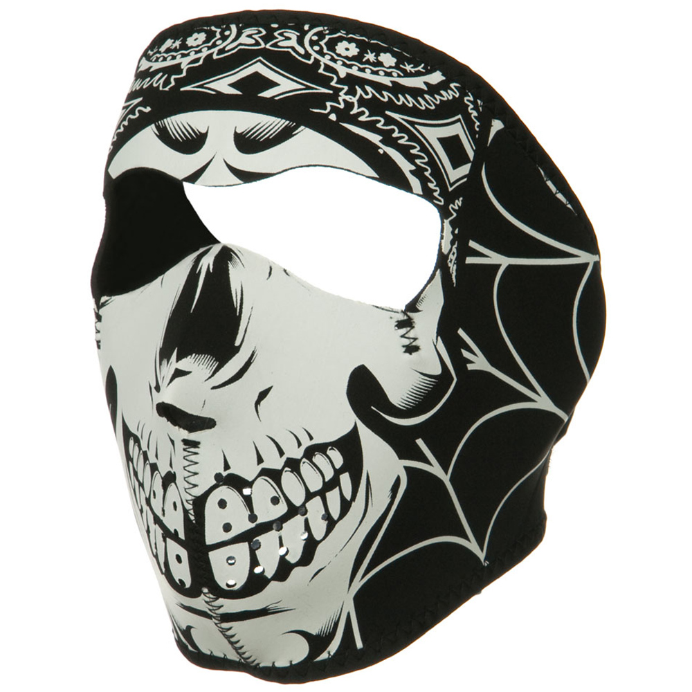 Lethal Threat Face Mask - Gangster Skull