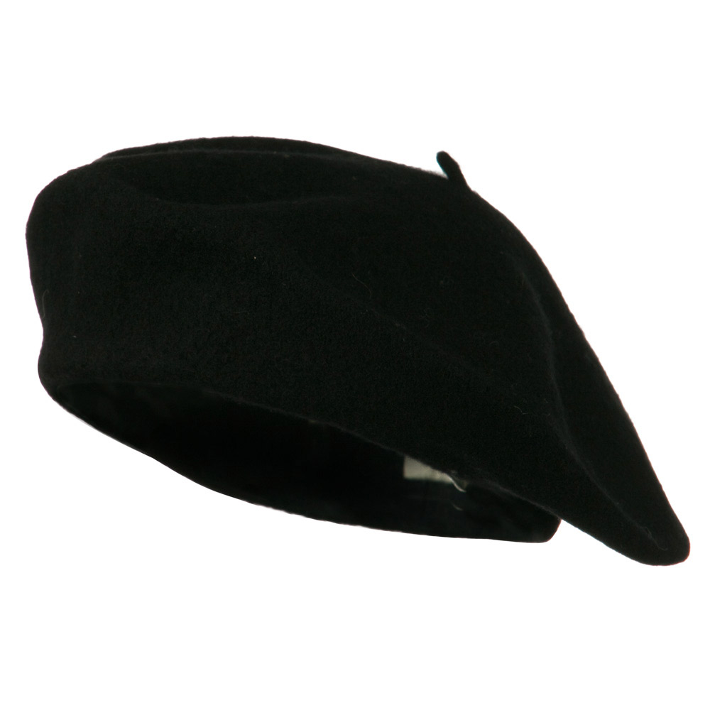 Ladies Wool Beret - Black - Hats and Caps Online Shop - Hip Head Gear
